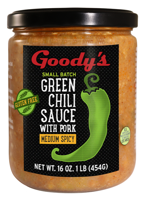 Goody's Green Chili Sauce label